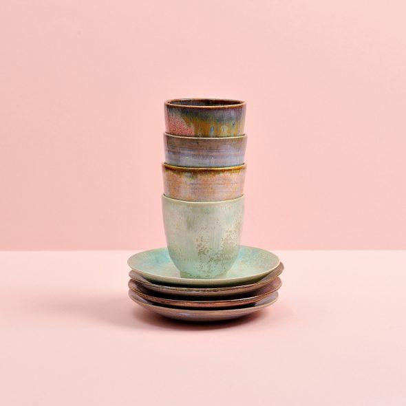 Espresso mokjes, - schoteltjes, espresso mugs saucers