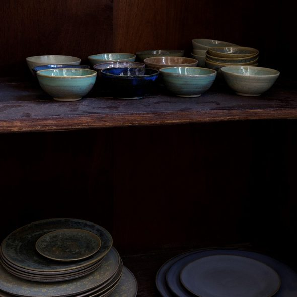 Cupboard with bowls